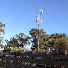 Sensor array installed on the roof at last.